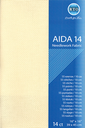 Fabric Aida 14 count - Ecru - RTO