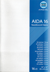 Borduurstof Aida 16 count - White - RTO