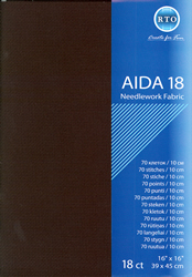 Fabric Aida 18 count - Black - RTO