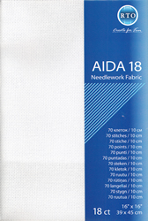 Fabric Aida 18 count - White - RTO