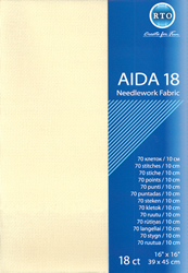 Fabric Aida 18 count - Ecru - RTO