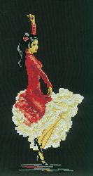 Borduurpakket Flamenco Dancer - RTO