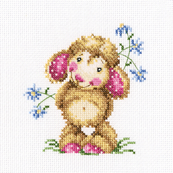Cross Stitch Kit Daisies For A Gift - RTO