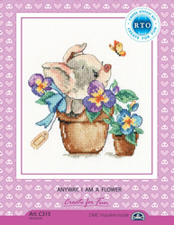 Cross stitch kit Anyway, I am a flower - RTO