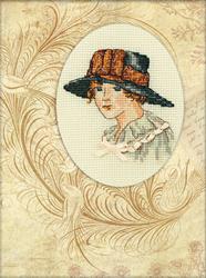 Cross Stitch Kit Lady mystery - RTO
