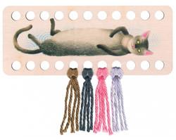 Plywood organizer - Rectangular with print Cat - RTO