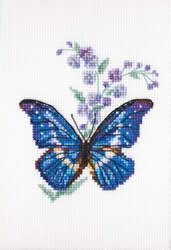 Cross Stitch Kit Polemonium and Butterfly - RTO