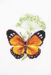 Cross Stitch Kit Caraway and Butterfly - RTO