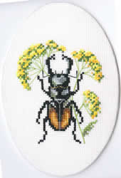 Cross Stitch Kit Bug on Hair's Ear - RTO