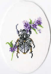Cross Stitch Kit Bug on Lungwort - RTO