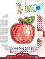 Cross stitch kit Perforated Wooden Form - Apple - RTO