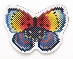 Cross stitch kit Perforated Wooden Form - Butterfly - RTO