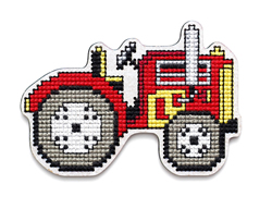 Cross stitch kit Perforated Wooden Form - Tractor - RTO