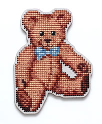 Cross stitch kit Perforated Wooden Form - Teddybear - RTO