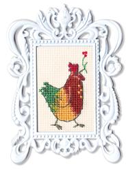 Cross Stitch Kit Framed Art Rooster - RTO