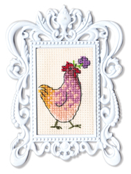 Borduurpakket Framed Art Chicken - RTO
