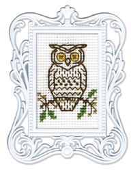 Borduurpakket Framed Art Owl - RTO