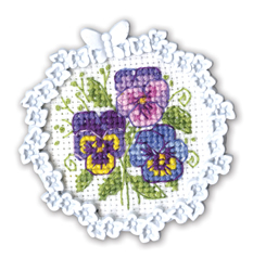 Borduurpakket Framed Art Pansies - RTO