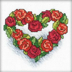 Borduurpakket Heart of Roses - RTO