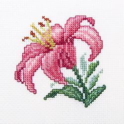Cross Stitch Kit Pink lily - RTO