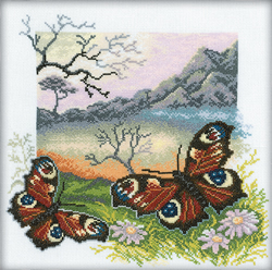 Cross Stitch Kit Butterflies Collection - RTO