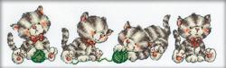 Borduurpakket Four Kittens - RTO