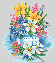 Cross Stitch Kit Tender Flowers - RTO