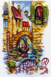 Cross Stitch Kit Ptcturesque Canals of Venice - RTO