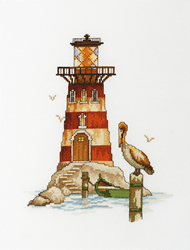 Cross Stitch Kit Lighthouse Pelican - RTO