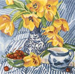 Borduurpakket Still Life with Tulips - RTO