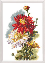 Cross Stitch Kit Chrysanthemum - RTO
