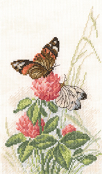 Borduurpakket Butterflies on Clover - RTO