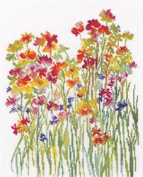 Borduurpakket Flower Watercolour - RTO