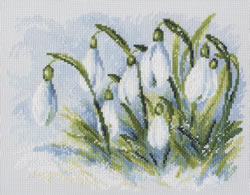 Cross Stitch Kit Early Snowdrops - RTO