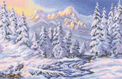 Cross stitch kit Under a charm of the winter - RTO