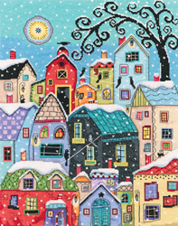 Cross stitch kit Snow Falling - RTO