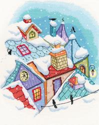 Borduurpakket Winter on the Roofs - RTO