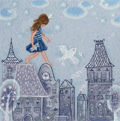Cross stitch kit Fairy Tales Live on the Roofs - RTO