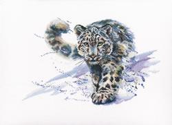Borduurpakket Snow Leopard - RTO