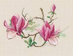 Borduurpakket Magnolia flowers - RTO