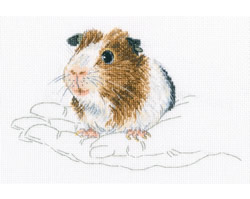 Cross stitch kit In Palms - Guinea Pig  - RTO
