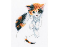 Cross stitch kit In Palms - Kitten - RTO