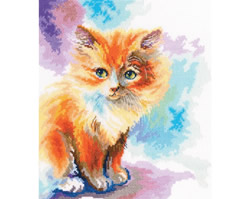 Cross stitch kit Sunny Kitten - RTO