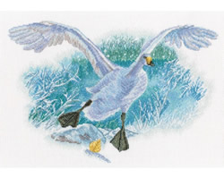 Cross stitch kit White Goose on the White Snow - RTO