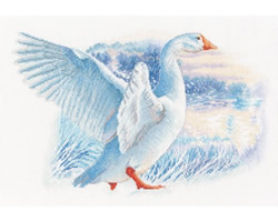 Cross stitch kit Snow Goose - RTO