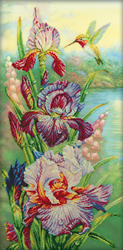 Cross Stitch Kit Harmony of nature with printed background - RTO