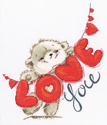 Cross stitch kit I love you - RTO