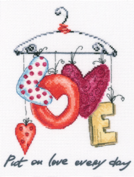 Cross stitch kit Put on love every day - RTO
