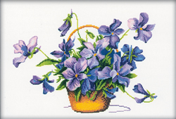 Cross Stitch Kit Violet Profusion - RTO