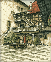 Cross Stitch Kit Castle Courtyard - RTO